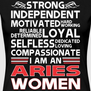 Strong Independent Motivates Aries Women - Women's Premium T-Shirt