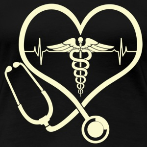 Nurse - It is in my heartbeat - Women's Premium T-Shirt