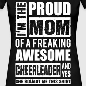 Cheerleader - Proud mom of an awesome leader - Women's Premium T-Shirt