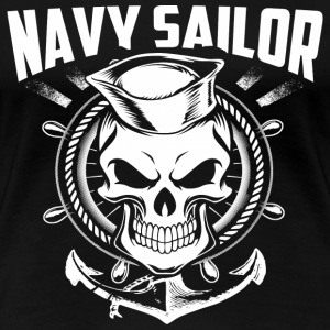 Navy - navy sailor T shirt - Women's Premium T-Shirt