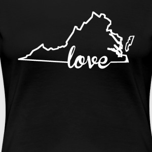Virginia Love State Outline - Women's Premium T-Shirt