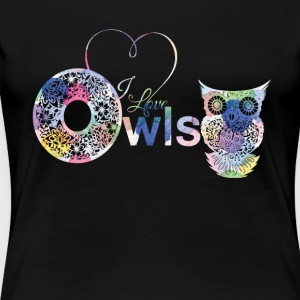 I Love Owls Shirt - Women's Premium T-Shirt