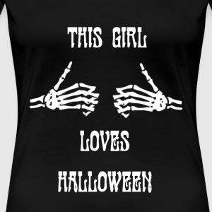 Halloween - This girl loves halloween awesome te - Women's Premium T-Shirt