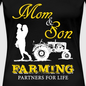 Farming - mom & son farming partners for life - Women's Premium T-Shirt