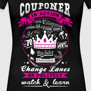 Couponer - Couponer in action awesome t-shirt - Women's Premium T-Shirt