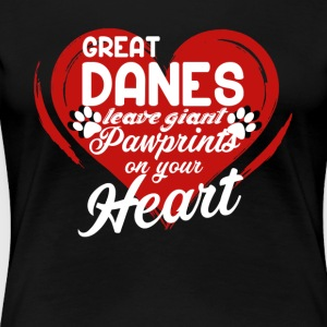 GREAT DANE PAWPRINTS SHIRT - Women's Premium T-Shirt