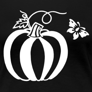 Pumpkin Butterfly Design - Women's Premium T-Shirt