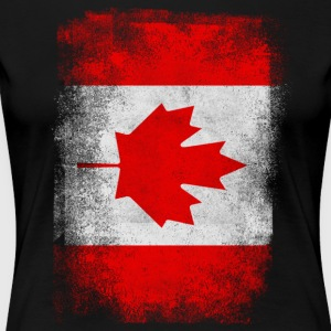 Canada Flag Proud Canadian Vintage Distressed - Women's Premium T-Shirt