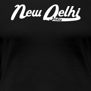 New Delhi India Vintage Logo - Women's Premium T-Shirt