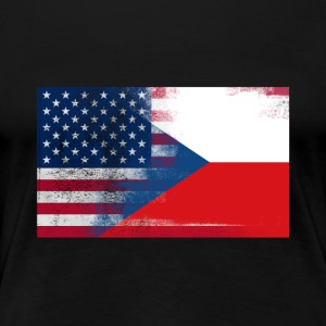 Half Czech Half American 100% Awesome Czech - Women's Premium T-Shirt