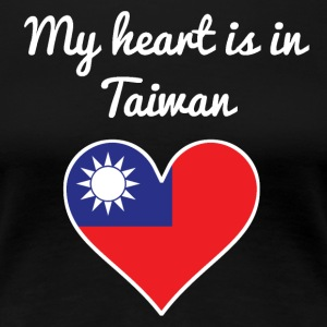 My Heart Is In Taiwan - Women's Premium T-Shirt