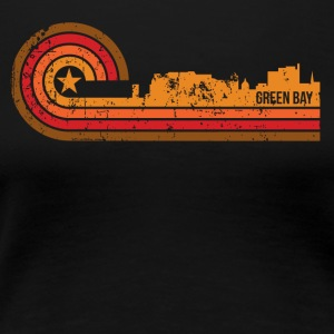 Retro Style Green Bay Wisconsin Skyline - Women's Premium T-Shirt