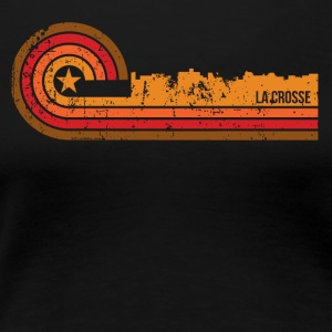Retro Style La Crosse Wisconsin Skyline - Women's Premium T-Shirt