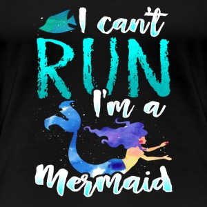 Mermaid Run Sport Back to School Gift Present - Women's Premium T-Shirt