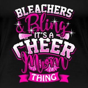 Cheer mom Cheerleading Cheerleader Gift Present - Women's Premium T-Shirt