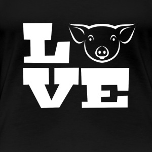 I Love Pigs - Women's Premium T-Shirt