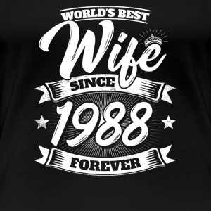 Wedding Anniversary Married 1988 Gift Wife Spouse - Women's Premium T-Shirt