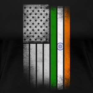 Indian American Flag - Women's Premium T-Shirt