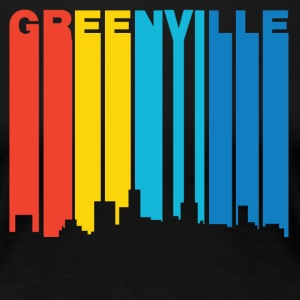 Retro 1970's Style Greenville SC Skyline - Women's Premium T-Shirt