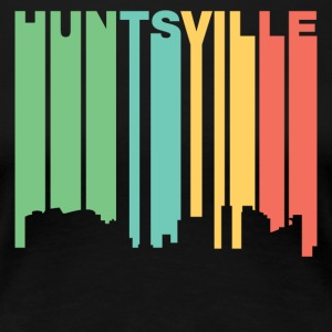 Retro 1970's Style Huntsville Alabama Skyline - Women's Premium T-Shirt