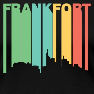 Retro 1970's Style Frankfort Kentucky Skyline - Women's Premium T-Shirt
