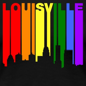 Louisville Kentucky Gay Pride Rainbow Skyline - Women's Premium T-Shirt