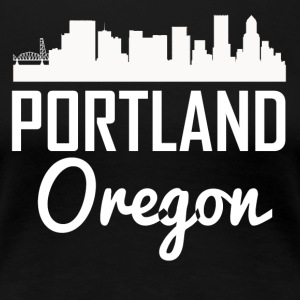 Portland Oregon Skyline - Women's Premium T-Shirt