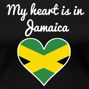 My Heart Is In Jamaica - Women's Premium T-Shirt