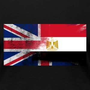 British Egyptian Half Egypt Half UK Flag - Women's Premium T-Shirt