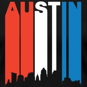Red White And Blue Austin Texas Skyline - Women's Premium T-Shirt