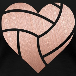 Volleyball Rosegold Heart - Women's Premium T-Shirt