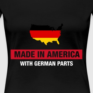 Made In America With German Parts Germany Flag - Women's Premium T-Shirt