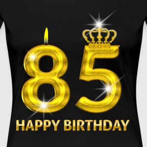 85 - Happy Birthday - Golden Number - Women's Premium T-Shirt