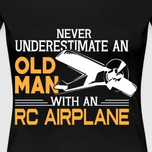 Old Man With An RC Airplane T Shirt - Women's Premium T-Shirt