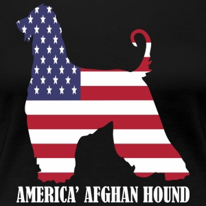American Afghan Hound Dog Flag Memorial Day USA - Women's Premium T-Shirt