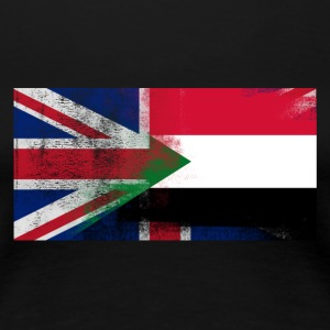 British Sudanese Half Sudan Half UK Flag - Women's Premium T-Shirt