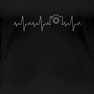 Heartbeat Camera photograph - take photos gift - Women's Premium T-Shirt