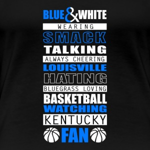 blue & white wearing smack talking always cheering - Women's Premium T-Shirt