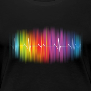 Gay Pride Heartbeat - Women's Premium T-Shirt