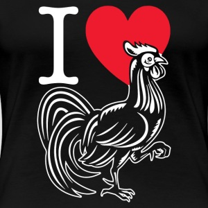 I LOVE COCK COMEDY FUNNY HEN DO JOKE MENS LADIES T - Women's Premium T-Shirt