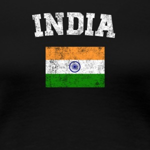 Indian Flag Shirt - Vintage India T-Shirt - Women's Premium T-Shirt