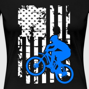 Mountain Bike Flag Shirts - Women's Premium T-Shirt