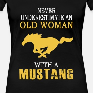 Mustang - An old woman with a mustang t-shirt