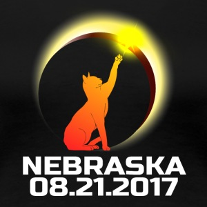 Total Solar Cat Eclipse Nebraska 21.08.2017 - Women's Premium T-Shirt