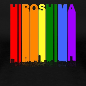 Hiroshima Japan Skyline Rainbow LGBT Gay Pride - Women's Premium T-Shirt