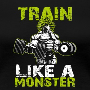 Legendary Broly Train Like A Monster T-Shirt - Women's Premium T-Shirt