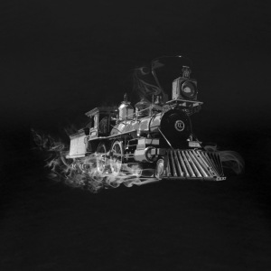 steam train outline - Women's Premium T-Shirt