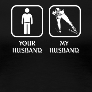 Husband Ice skating Love- cool shirt,geek hoodie,t - Women's Premium T-Shirt