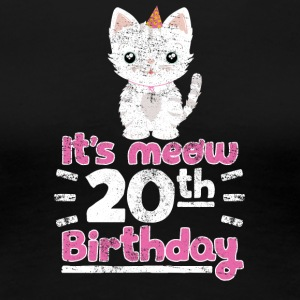 It's meow 20th Birthday Cute Gift Kitten Kitty Cat - Women's Premium T-Shirt