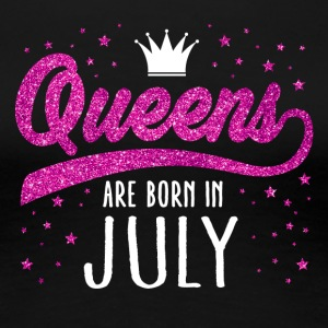 Pink Glitter Queens Are Born In July - Women's Premium T-Shirt